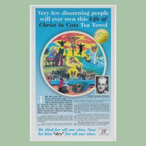 More T Vicar Life Of Christ In Cats Tea Towel