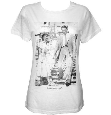 cdb44e5c6feb Roman Holiday Ladies White T Shirt | T Shirts from More T Vicar